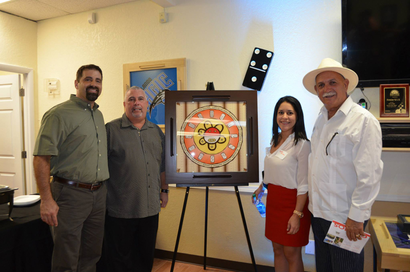 The Hispanic Chamber of Commerce of Metro Orlando celebrates its Business After Hours at DOMINOUSA headquarters and raffles-off a DOMINO SAM Tabletop to a lucky winner.